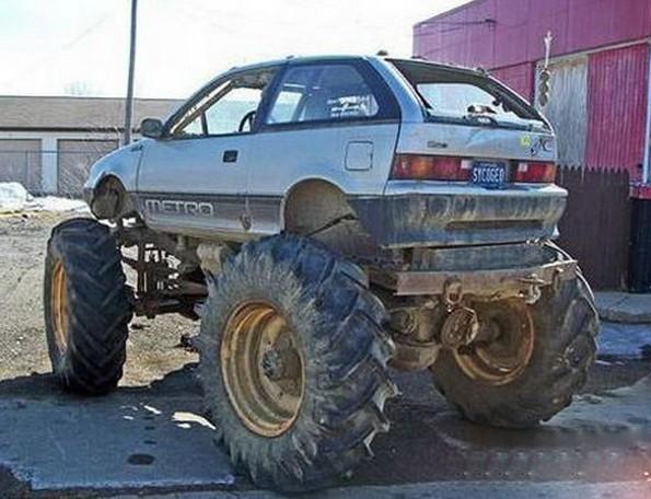 大脚怪车 大脚怪炫车 似坦克 改装车 大轮胎车 霸气车 高清图片