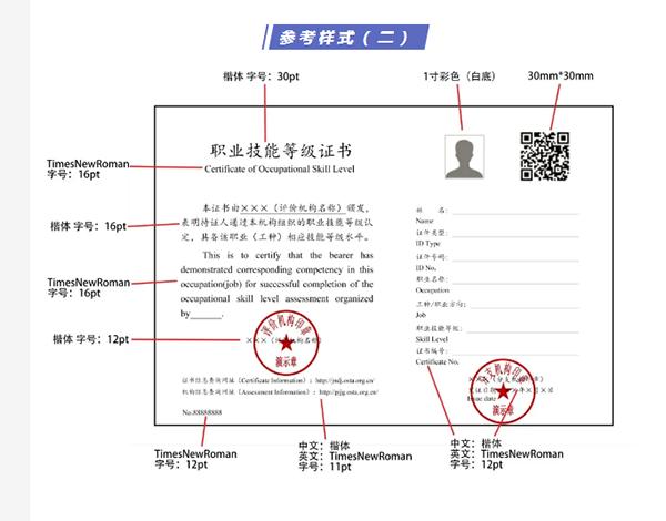 安全评价师职业技能等级证书参考样式二@chinaadec.com